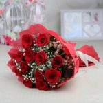 12 Red Rose With Paper Packing